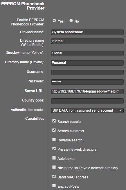 N510 XML Phonebook 40, 41, 42 - Gigaset PRO - Public Wiki - Gigaset